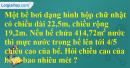 Bài 3 trang 177 sgk toán 5 tiết 171 luyện tập