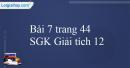 Bài 7 trang 44 SGK Giải tích 12