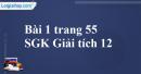 Bài 1 trang 55 SGK Giải tích 12