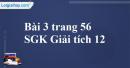 Bài 3 trang 56 SGK Giải tích 12