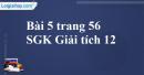 Bài 5 trang 56 SGK Giải tích 12