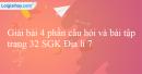 Bài 4 trang 32 SGK Địa lí 7