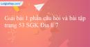 Bài 1 trang 53 SGK Địa lí 7